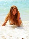 Seksowna dziewczyna na plaży. Fotografia Stock