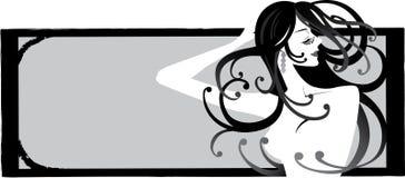 seksowna dziewczyna ramowe ilustracji