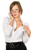 Seksowna figlarnie młoda kobieta zdjęcie royalty free