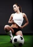 seksowna gracz piłka nożna obrazy royalty free