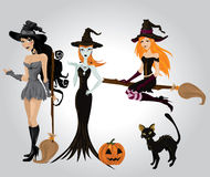 seksowna Halloween czarownica Fotografia Royalty Free