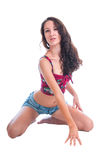 Seksowna kobieta na grasującym Zdjęcia Royalty Free