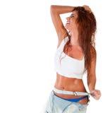 Seksowna kobieta w mokrej koszula Zdjęcie Royalty Free
