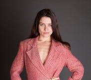 Seksowna kobieta w w złym guście apartamencie Fotografia Stock
