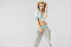 Seksowna kobieta z galanteryjnymi hełmofonami Obraz Royalty Free