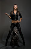 Seksowna kobieta z psem Fotografia Stock