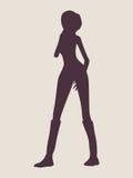Seksowna kobiety sylwetka Obrazy Royalty Free