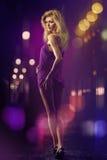 seksowna kolor noc Obrazy Royalty Free
