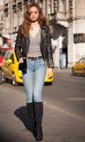 Seksowna młoda uliczna moda zdjęcia royalty free