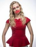 Seksowna śmieszna żeńska lala Obrazy Stock