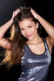 Seksowna partyjna dziewczyna figlarnie - młoda Azjatycka kobieta Obrazy Royalty Free