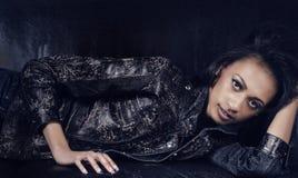 Seksowna piękna młoda kobieta zapasu fotografia: Obraz Stock