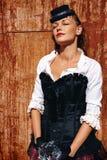 Seksowna Piękna kobieta w Dziejowym kostiumu Zdjęcie Stock