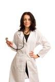 Seksowna potomstwo lekarka z stetoskopem Zdjęcia Stock