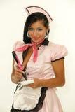 Seksowna retro kelnerka obraz stock