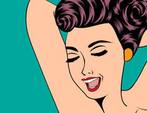 Seksowna rogowata kobieta w komiczka stylu, xxx ilustracja Fotografia Stock