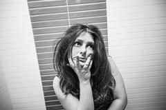 Seksowna rozważna kobieta Obrazy Royalty Free