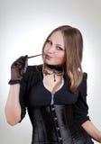 seksowna szkło kobieta Zdjęcie Royalty Free