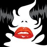 seksowne czarni włosy wargi Obraz Stock