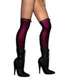 seksowne but czarny nogi Zdjęcie Royalty Free