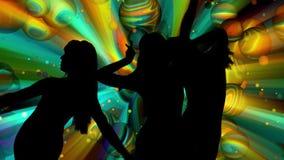 Seksowne dancingowych dziewczyn sylwetki ilustracja wektor
