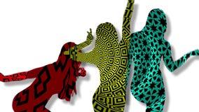 Seksowne dancingowych dziewczyn sylwetki 4k royalty ilustracja