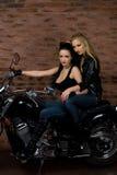 Seksowne dziewczyny na motocyklu Zdjęcie Royalty Free