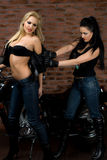 Seksowne dziewczyny na motocyklu Obraz Royalty Free