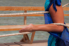 Seksowne kobiet nogi zawijać up z arkaną Zdjęcia Stock