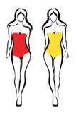 Seksowne kobiet sylwetki Zdjęcie Stock