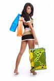 seksowne kobiety torby na zakupy obrazy stock