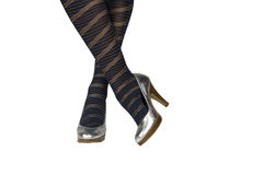 Seksowne nogi w rajstopy Obraz Royalty Free