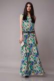 Seksownego piękna biznesowa kobieta w mody sukni perfect szczupłym ciele Fotografia Royalty Free