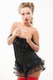 Seksownej kobiety polerowniczy paznokcie Zdjęcie Stock