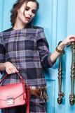 Seksownej piękno kobiety makeup mody odzieżowy styl Fotografia Royalty Free