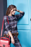 Seksownej piękno kobiety makeup mody odzieżowy styl Obraz Stock