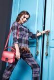 Seksownej piękno kobiety makeup mody odzieżowy styl Zdjęcia Royalty Free