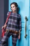 Seksownej piękno kobiety makeup mody odzieżowy styl Fotografia Stock