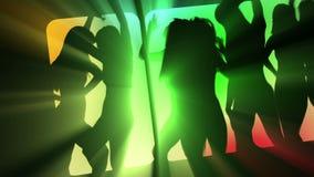 Seksowni świetlicowi tancerze ilustracji