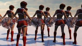 Seksowni Bożenarodzeniowi Cheerleaders Obraz Royalty Free