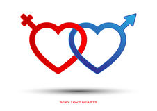 Seksowni miłość serca Zdjęcia Stock