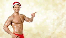 Seksowny Święty Mikołaj Obraz Stock