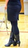 Seksowny żeński tubowy gracz Fotografia Royalty Free