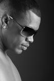 seksowny Amerykanin afrykańskiego pochodzenia mężczyzna Fotografia Stock