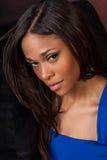 Seksowny amerykanin afrykańskiego pochodzenia mody model Fotografia Royalty Free