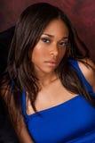 Seksowny amerykanin afrykańskiego pochodzenia mody model Zdjęcie Royalty Free