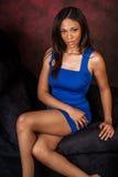 Seksowny amerykanin afrykańskiego pochodzenia mody model Zdjęcia Royalty Free