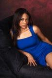 Seksowny amerykanin afrykańskiego pochodzenia mody model Zdjęcie Stock