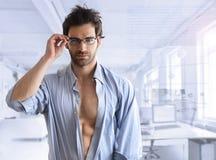 Seksowny biznesowy facet Fotografia Stock