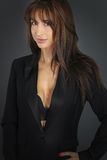Seksowny bizneswoman jest ubranym kostium Obrazy Royalty Free